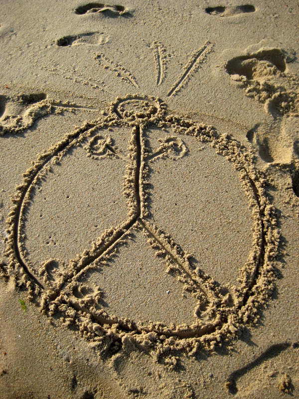 Peace Man in the Sand, Summer 2008